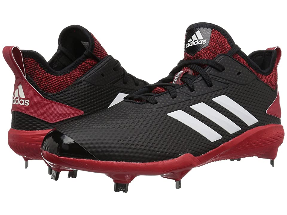 adidas Adizero Afterburner V (Black/Cloud White/Power Red) Men's Cleated Shoes