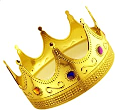 Adorox Gold Royal King Plastic Crown Prince Costume Accessory Adult/Kid (1)