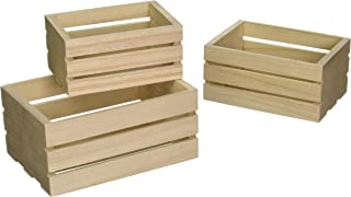 Multicraft Imports WS920 Wood Craft Crate Caddy Set (3/Pack)