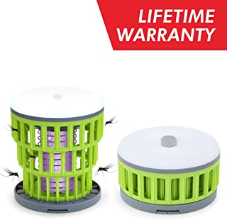 2-in-1 Camping Lantern Bug Zapper Tent Light - Portable IPX6 Waterproof Mosquito Killer LED Lantern with 1000mAh Rechargeable Battery, Retractable Hook, Removable