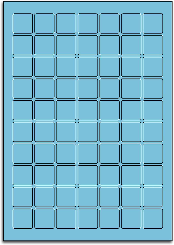 Multi Purpose Blau Square Labels - 70 Labels Per Sheet - 100 Sheets 25.4mm x 25.4mm B00BXE6FGA  | Ausgezeichneter Wert