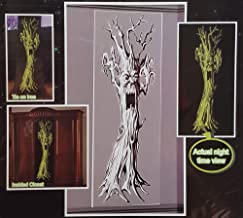 Glow in The Dark Florescent Halloween Party Wall Decoration Door Cover Closet Tree 14 x 60 Inch (Haunted Forest Tree)