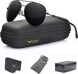 LUENX Men Aviator Sunglasses Polarized Women - UV 400...