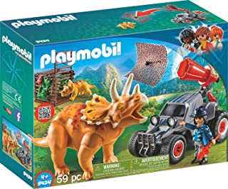 PLAYMOBIL® Enemy Quad with Triceratops Building Set