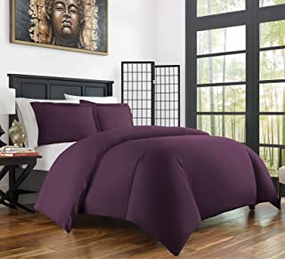 Zen Bamboo Ultra Soft 3-Piece Rayon Derived From Bamboo Duvet Cover Set -Hypoallergenic and Wrinkle Resistant - Full/Quee...
