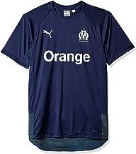 PUMA Men's Standard Olympique De Marseille Pro Shirt with Sponsor Logo