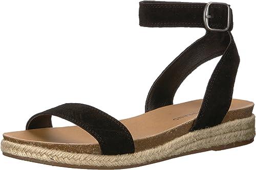 Lucky Brand Wohommes Garston Flat Sandal, noir, 6.5 M US