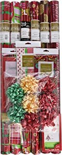 Gift Wrap Company Critter Christmas Gift Wrap, Tags and Ribbon Assortment Kit (Pack of 250)