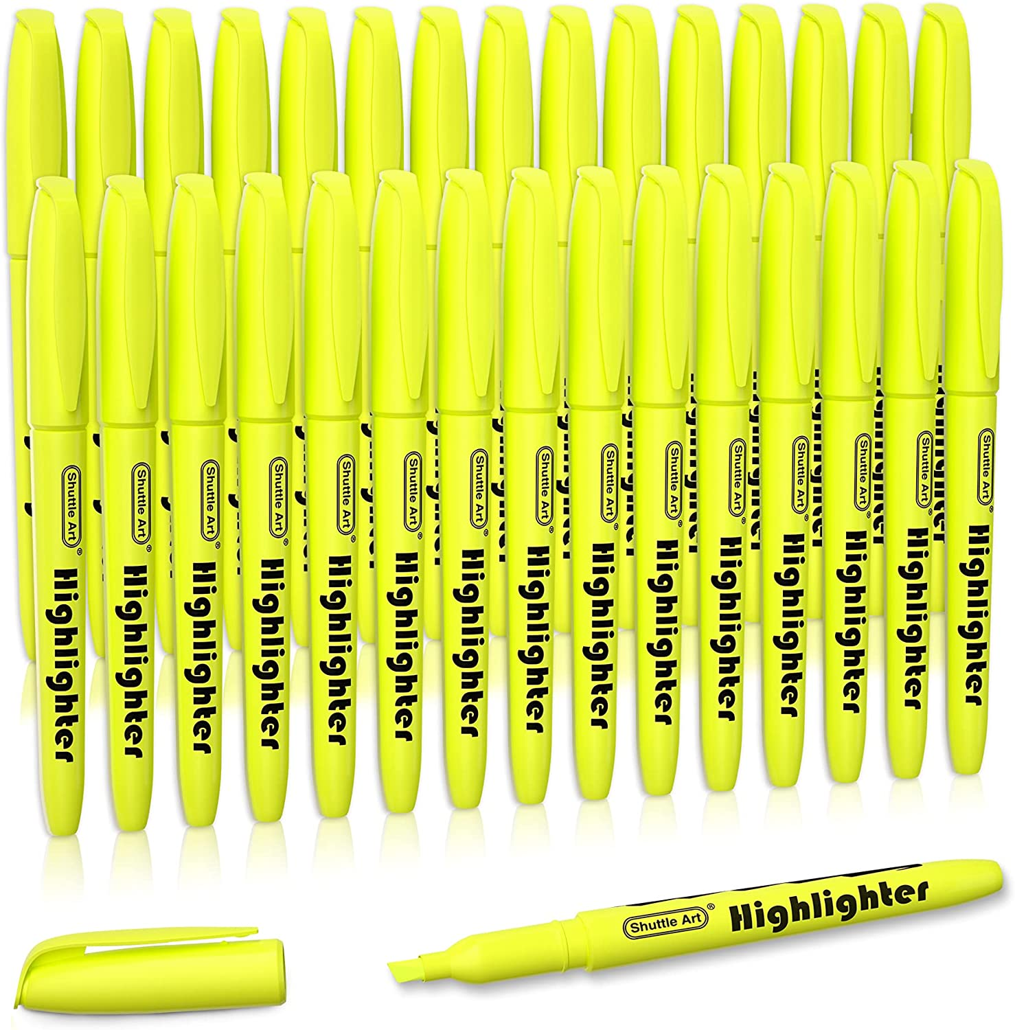 Yellow Highlighters Shuttle Art Bright Max Ranking TOP3 87% OFF Pack Col 30