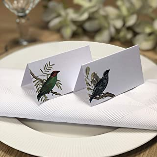 Place Cards for Dinner Parties Name Cards Wedding Table Decor Friendsgiving Thanksgiving or Christmas Table Setting Pak 24 -Two Bird Designs