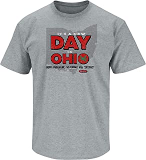 Ohio State Football Fans. It's A New Day in Ohio Gray T-Shirt (Sm-5X)