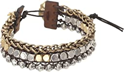 Royal Jewels Mixed Two-Tone Faux Wrap Bracelet