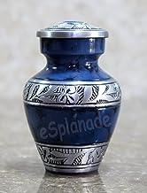 eSplanade Cremation urn Memorials urns Container Jar Pot | Metal Keepsake Urns | Burial Urn | Memorials Keepsake urn (Blue...