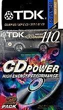 TDK CD Power 110 Cassette, 2pk High Bias Audio Cassette Tapes