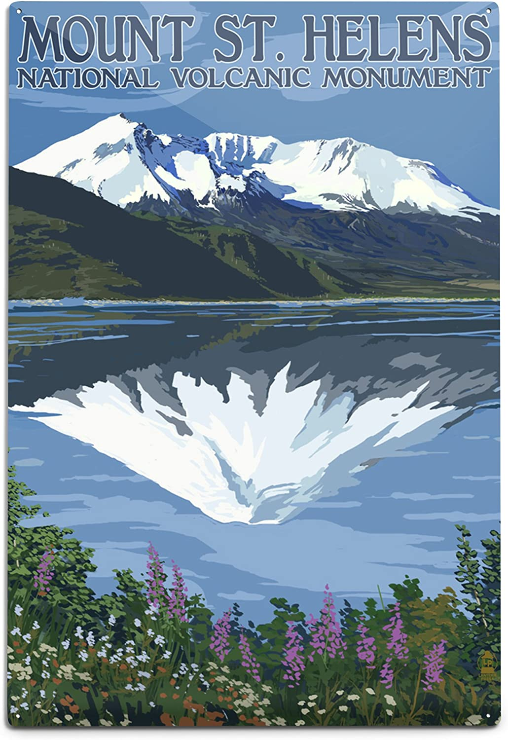 Lantern Press Mount St. 5 ☆ very popular Helens After Washington Before Vie and Now on sale