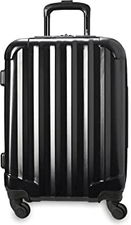 Genius Pack Hardside Luggage Spinner - Smart, Organized, Lightweight Suitcase (Aerial - Jet Black)