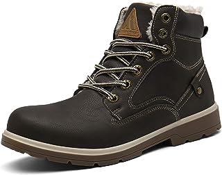 Putu Homme Chaussures Trekking Outdoor Boots Bottes de Neige Hiver Imperméable