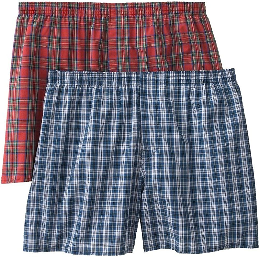Christopher Hart 2-Pack Plaid Boxers Big Sizes