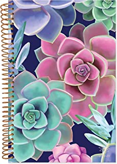 """bloom daily planners 2019-2020 Academic Year Weekly & Monthly Planner with Tabs and Flexible Soft Cover (August 2019 - July 2020) - 6"""" x 8.25"""" - Succulents"""
