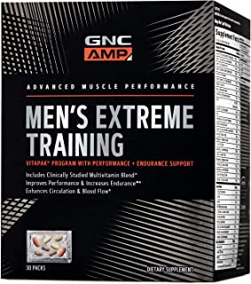 GNC AMP Men's Extreme Training Vitapak, 30 Packs, Performance and Endurance Support