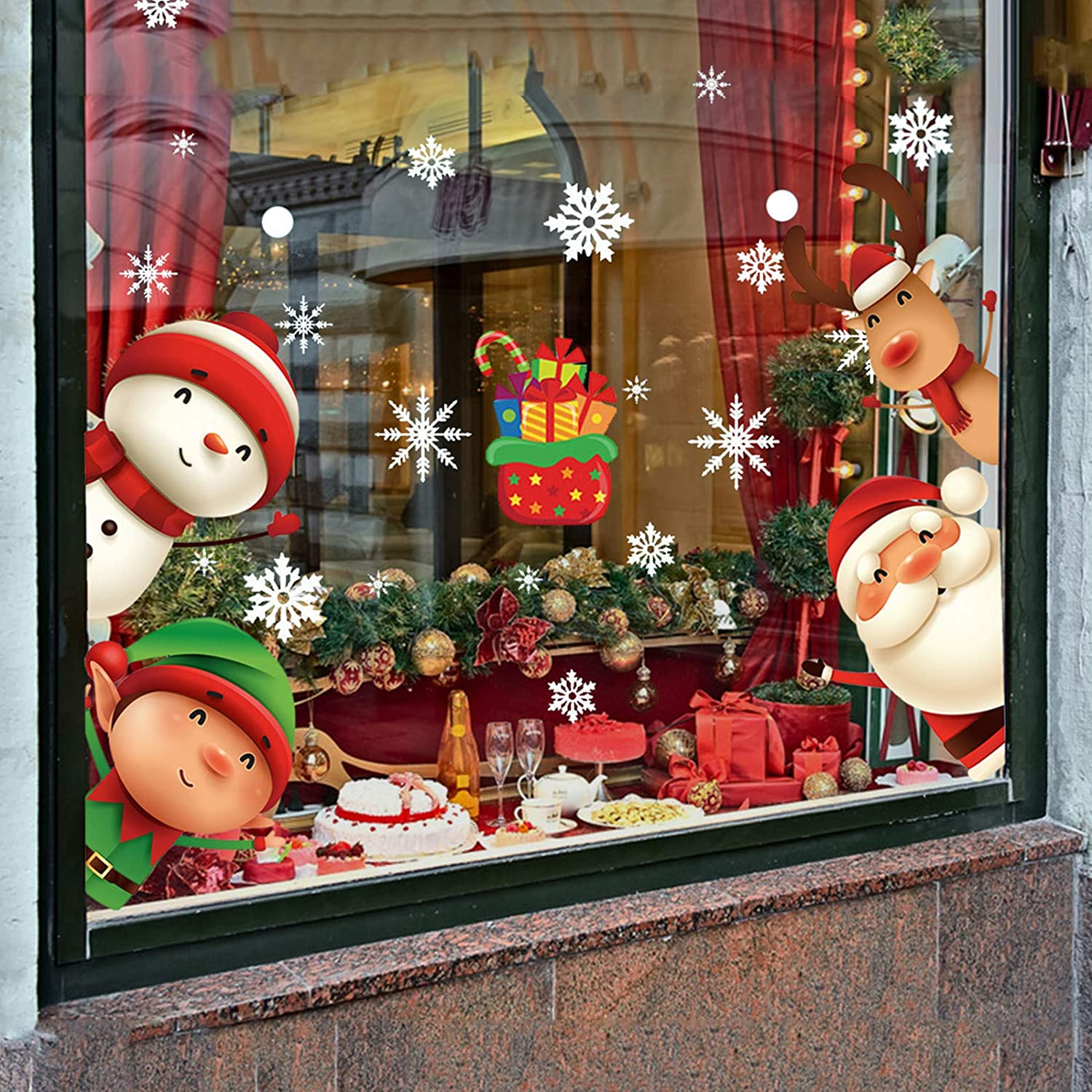 XIMISHOP 82PCS Christmas Snowflake Window for Gl Clings Award-winning store Stickers Max 77% OFF