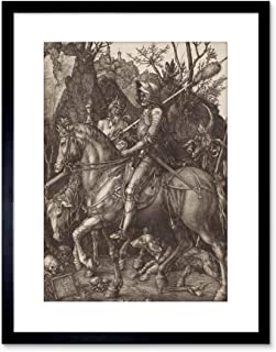 The Art Stop Painting Albrecht Durer Knight Death Devil Old Master Framed Print F97X2655