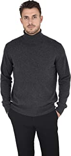 Cashmeren Men's Essential Knit Turtleneck Sweater Cashmere Wool Long Sleeve Roll Neck Pullover