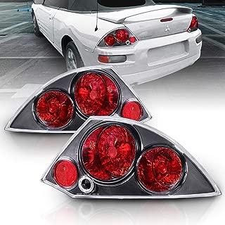 AmeriLite Black Replacement Brake Taillights Set for 00-02 Mitsubishi Eclipse - Passenger and Driver Side