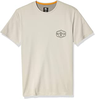 Quiksilver Men's GUT CHECK SHORT SLEEVE RASHGUARD UPF 50 SUN PROTECTION Rash Guard Shirt
