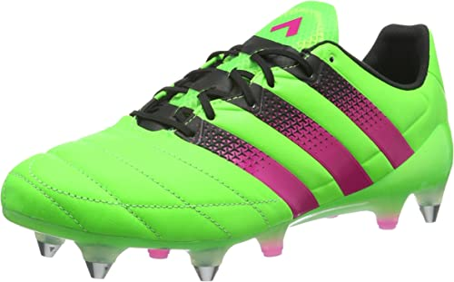 Adidas Ace 16.1 SG Leather, Hausschuhe de Running para Hombre