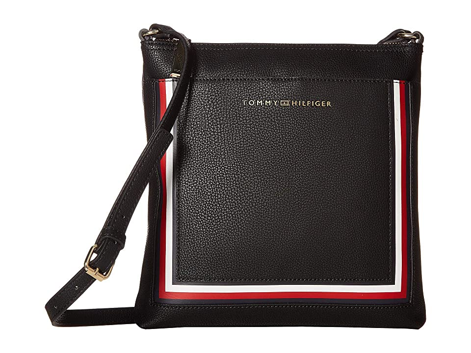 Tommy Hilfiger Carmen North/South Crossbody (Black) Cross Body Handbags
