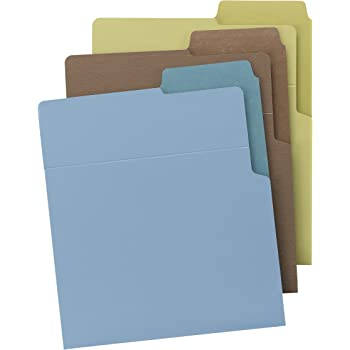Smead Organized Up Heavyweight Vertical File Folders, Dual Tabs, Letter Size, Earth Tones, 6 per Pack (75405)