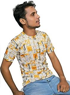 HUBMY Men's Tshirt Casual,Round Neck Tshirt,Printed t Shirt,Half Sleeves t Shirt,Latest t Shirt