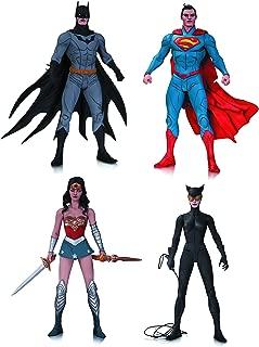 DC Collectibles DC Comics Designer Action Figure Series 1 Set of 4 by Jae Lee: (Superman, Batman, Wonder Woman, Catwoman)