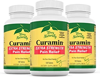 Sponsored Ad - Terry Naturally Curamin Extra Strength (3 Pack) - 120 Vegan Tablets - Non-Addictive Pain Relief Supplement ...