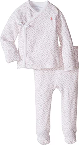 Printed Interlock Kimono Two-Piece Pants Set (Infant)
