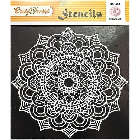 Craftreat Mandala Stencil for Cake - Mandala Template- Size: 6X6Inches - Reusable DIY Cake Stencil - Mandala Stencils Design for Cakes - Mandala Stencil