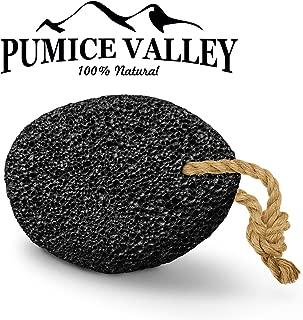 Pumice Stone - Natural Earth Lava Pumice Stone Black - Callus Remover for Feet Heels and Palm - Pedicure Exfoliation Tool - Corn Remover - Dry Dead Skin Scrubber - Health Foot Care