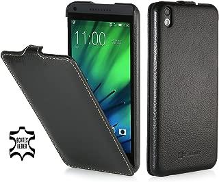 StilGut UltraSlim Genuine Leather Case for HTC Desire 816, Black