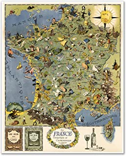 Best french cheese map poster Reviews
