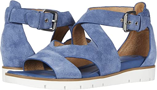 French Blue Cow Suede