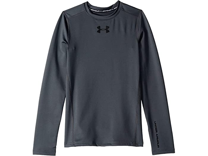 Under Armour Boys Ua ColdGear Logo Fitted Mock Top Big Kids