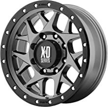 XD Series by KMC Wheels XD127 Bully Matte Gray Wheel with Black Ring (17x9