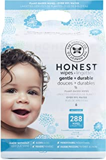 The Honest Company Baby Wipes - Pure and Gentle | Plant-Based and Biodegradable | Alcohol, Fragrance and Paraben Free | Hypoallergenic Honest Wipes | 288 Count