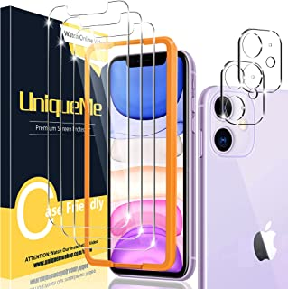 [2+3 Pack] UniqueMe Compatible for iPhone 11 6.1 inch Camera Lens Protector and Screen Protector Tempered Glass HD Clarity...