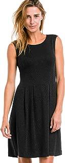 ellos Women's Plus Size Fit & Flare Glitter Knit Dress - 10, Black Silver