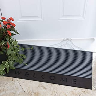 "Ottomanson Rubber Collection Doormat, 18"" x 30"", Silver"
