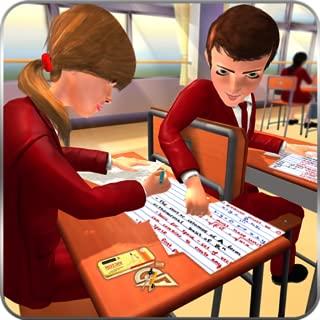 High School Cheating Boy, City School Simulator Game 3D