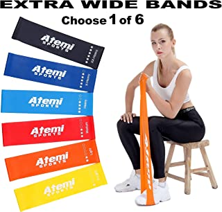Resistance Bands   Extra Wide Mini Resistance Loops With Exercise Guide   Exercise Bands For Strength Training And Weight ...