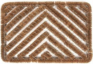 Ninamar Natural Coir Herringbone Door Mat - 24 x 16 inch